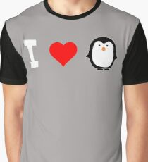 I Love Penguins Cute Graphic T-Shirt