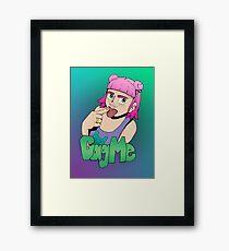 Gag Me Framed Print