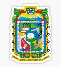 Puebla Coat of Arms Sticker