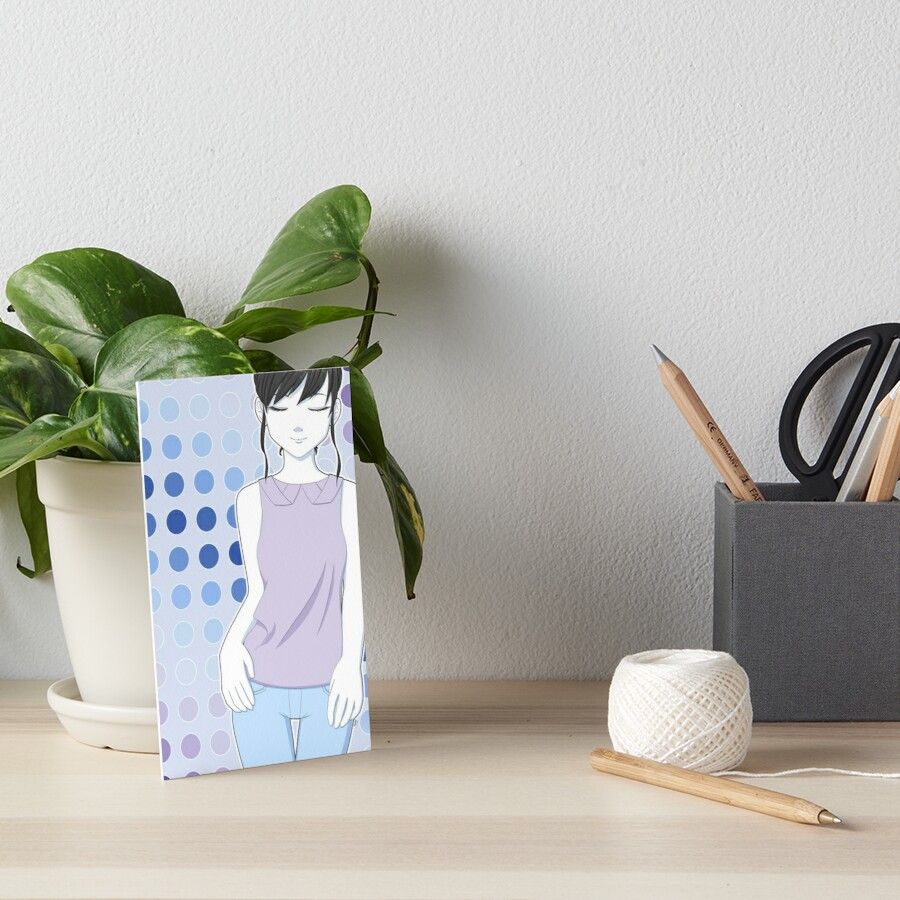 Shades of Blue Art Board Print