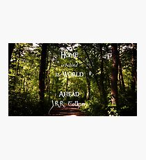 Home is Behind, the World Ahead, forest path  Photographic Print