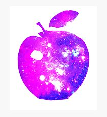 BIG COSMIC APPLE Bright Space Pattern Design Photographic Print
