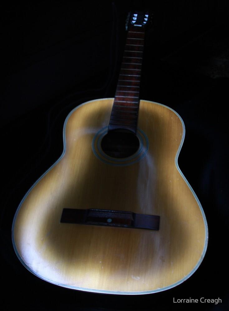 Painted Guitar by Lorraine Creagh