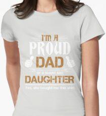 Proud Dad Of A Smartass Daughter Shirt Womens Fitted T-Shirt