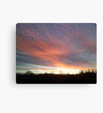 Chromatic Sky In The Morning Canvas Print