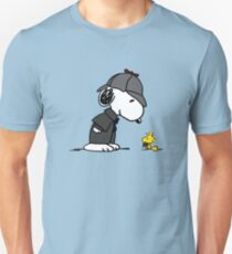 Snoopy Holmes and Woodstock Watson Unisex T-Shirt