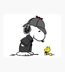 Snoopy Holmes and Woodstock Watson Photographic Print