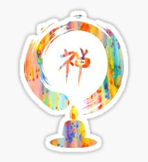 Watercolor, meditaion, zen, enlightment Sticker