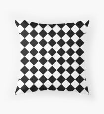 Cheque pattern angle - ask for other colours Throw Pillow