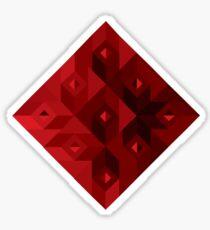 suit of cards: diamond Sticker