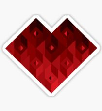 suit of cards: heart Sticker