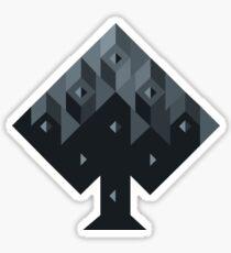 suit of cards: spade Sticker