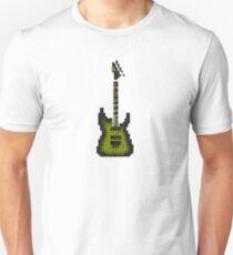 Tiled Pixel Green Burst Electric Guitar Upright T-Shirt