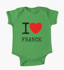 I LOVE FRANCE One Piece - Short Sleeve
