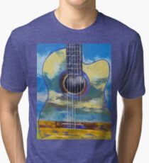 Guitar and Clouds Tri-blend T-Shirt
