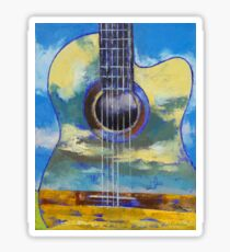 Guitar and Clouds Sticker
