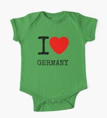I LOVE GERMANY One Piece - Short Sleeve