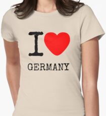 I LOVE GERMANY Womens Fitted T-Shirt