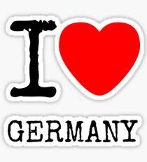 I LOVE GERMANY Sticker