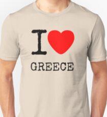 I LOVE GREECE Unisex T-Shirt