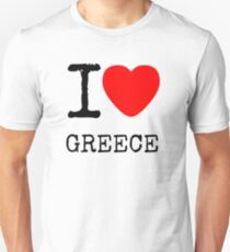I LOVE GREECE Unisex T-Shirt