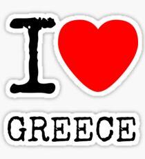 I LOVE GREECE Sticker