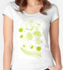 Forest Flash 1 Women's Fitted Scoop T-Shirt