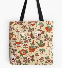 Traditional Old School Tattoo Pattern Tote Bag