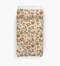 Traditional Old School Tattoo Pattern Duvet Cover