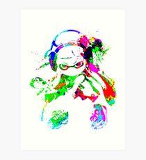 Inkling Girl Splat Art Print