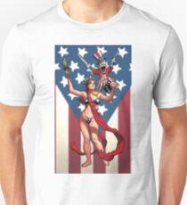 BIKINI LADY LIBERTY Unisex T-Shirt