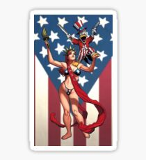 BIKINI LADY LIBERTY Sticker