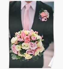 Groom with flower Poster