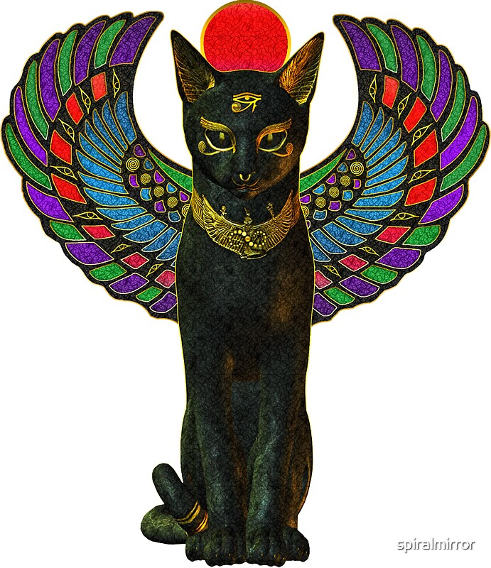 Quot Bastet Quot Stickers By Spiralmirror Redbubble