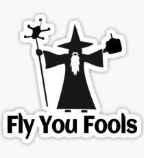 FPV du Dummköpfe Sticker