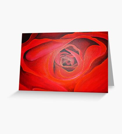 Heart Shaped Valentine Red Rose Greeting Card