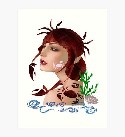 Astrology :-Cancer Art Print