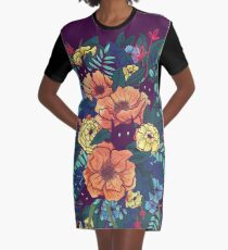 Wild Flowers Graphic T-Shirt Dress
