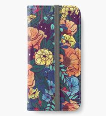 Wilde Blumen iPhone Flip-Case/Hülle/Skin