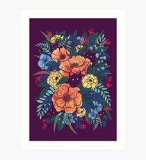 Wilde Blumen Kunstdruck