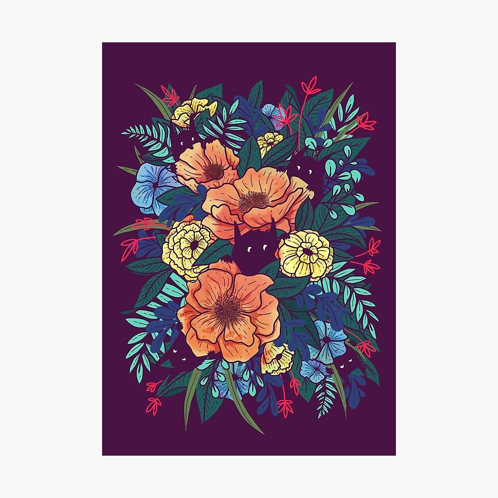 Flores silvestres Lámina fotográfica