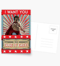 Nacho Libre - I Want You To Take It Easy Postcards