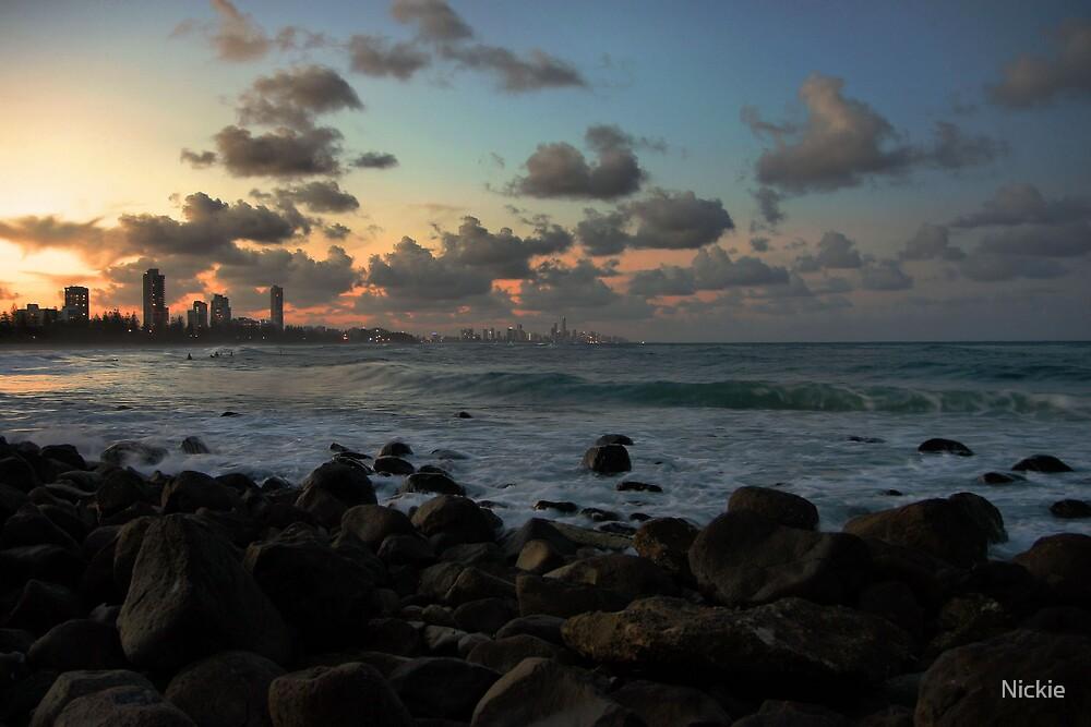 Burleigh Beach Twilight by Nickie