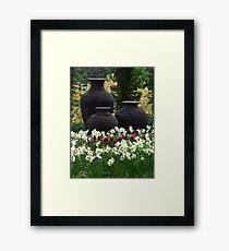 3 Urns ( Portrait ) Framed Print