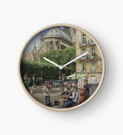 Street musicians Clock