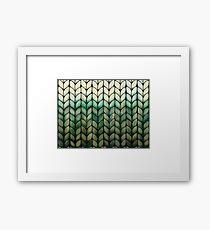 Olive Grove Knit Framed Print