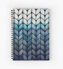Chunky Ocean Blue Knit Spiral Notebook