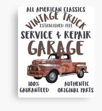 Vintage Truck Service Repair Garage Canvas Print