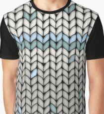 Mint Leaf Knit Graphic T-Shirt