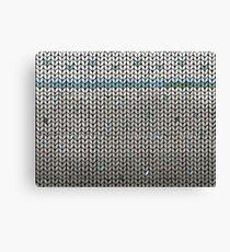 Mint Leaf Knit Canvas Print